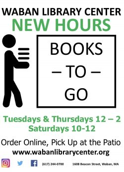 We are now open Tuesday and Thursday 12-2 and Saturday 10-12 for Books-To-Go! thumbnail